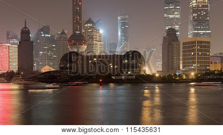 Night Embankment Shanghai