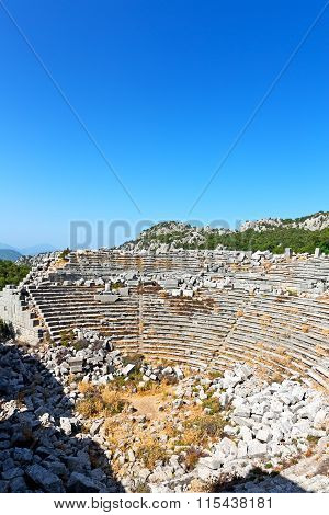 The Old    Theatre In Asia Sky And Ruins