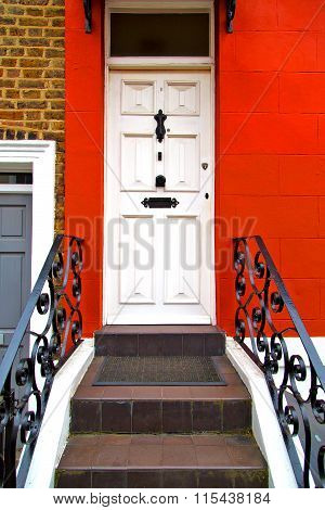 Notting   Hill  Area  In London  Suburban      Wall Door
