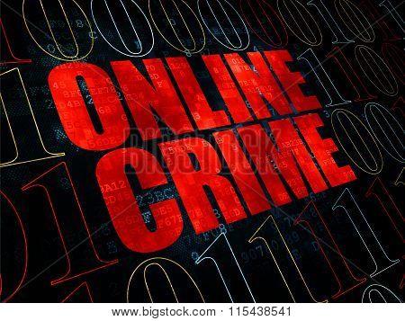 Protection concept: Online Crime on Digital background