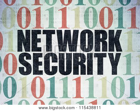 Privacy concept: Network Security on Digital Paper background