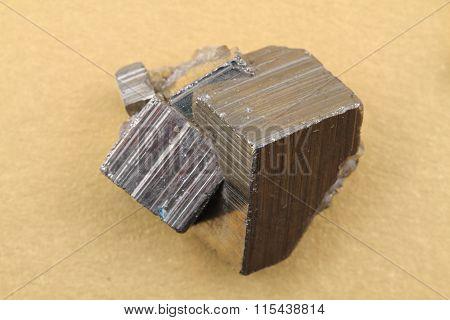 Golden Pyrite Cubes