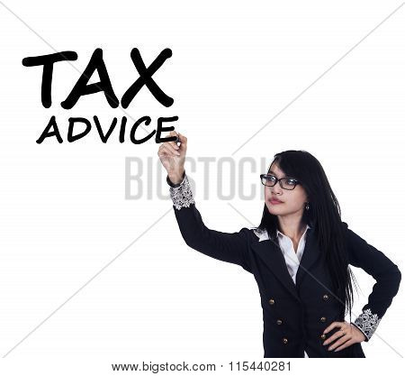 Pretty Female Tax Consultant