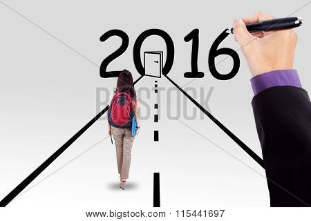 Student On The Way With Numbers 2016