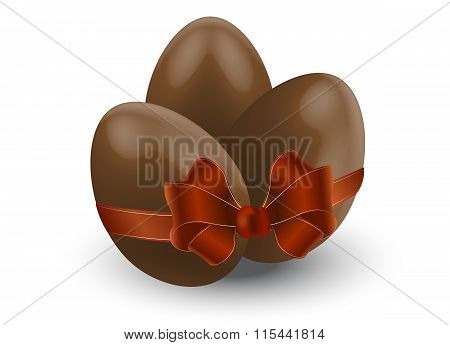 Chocolate Eggs With Bow