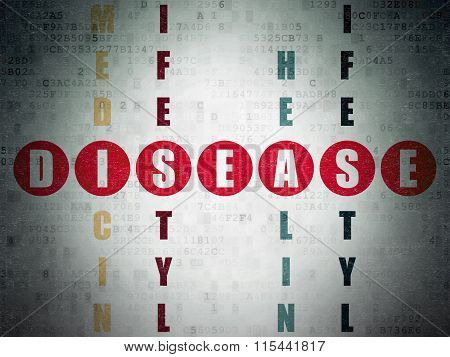 Health concept: Disease in Crossword Puzzle