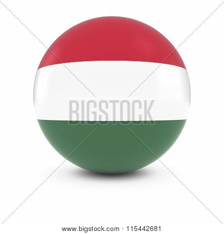 Hungarian Flag Ball - Flag Of Hungary On Isolated Sphere