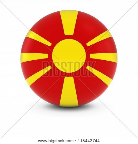 Macedonian Flag Ball - Flag Of Macedonia On Isolated Sphere