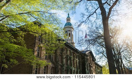 Nassau Hall in Princeton University, USA.