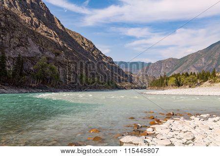 Mountain Rivers Argut And Katun, Altai, Russia