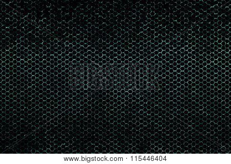 Green Metallic Mesh Background Texture
