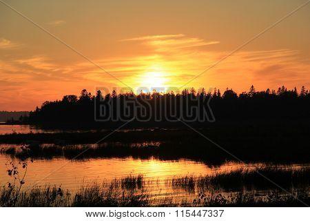 Prentiss Bay at sunset