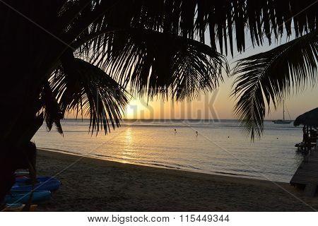 Sunset in Sandy Bay, Roatan, Honduras,