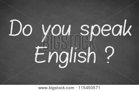 Do you speak english - handwritten