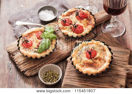 Tomato Quiche With Wine The National France