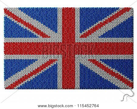 United Kingdom (uk) Flag Of Knitted Fabric