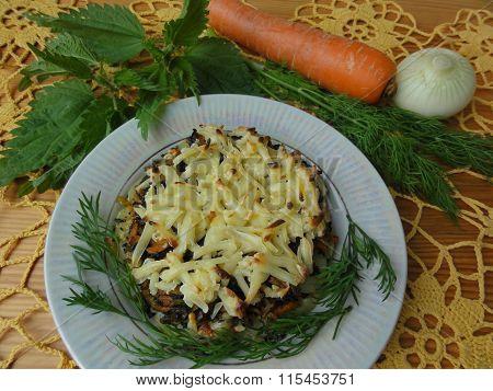 Casserole nettle potato