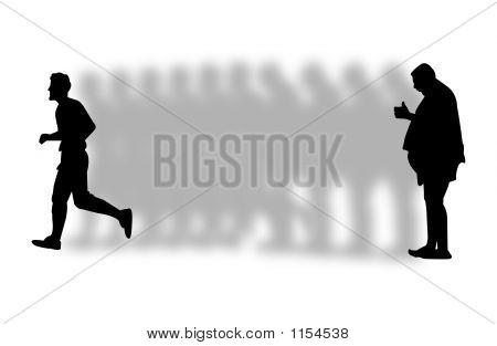 verlieren Gewicht illustration