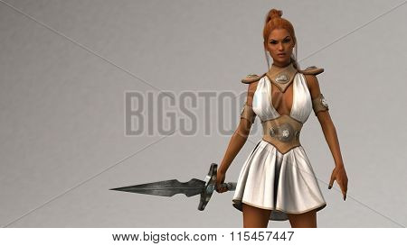 gladiator woman with sword