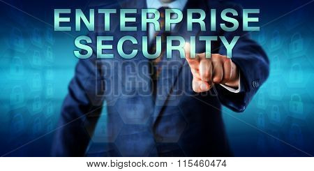 Manager Pressing Enterprise Security Onscreen