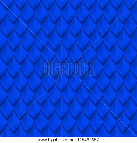 Blue dragon scales seamless background texture