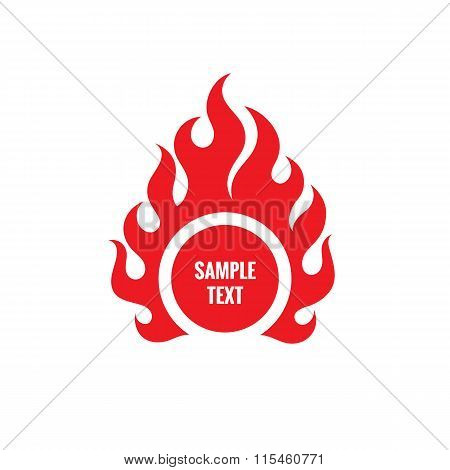 Red fire sign vector illustration. Red flame sign vector illustration. Fire logo. Flame logo.