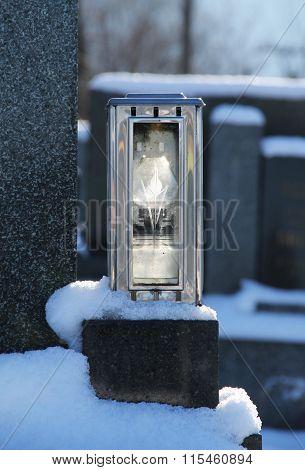 lantern on the grave