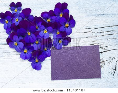 love note with floral heart shape