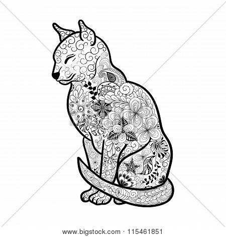 Cat  Doodle Illustration