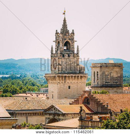 Clock tower Jaquemart in Avignon, France