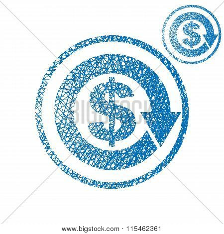Money Circulation Exchange Economy Concept Vector Simple Single Color Icon Isolated On White
