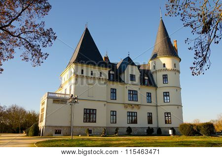 The Andrassy Castle in Tiszadob, Hungary
