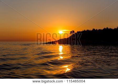 Sunset At Sea In Rovinj