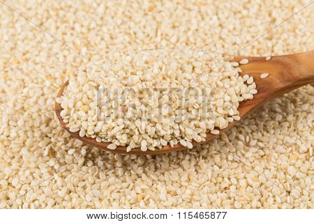 sesame seeds heap