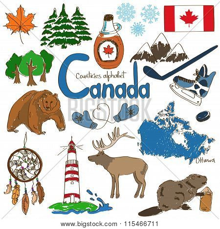 Collection Of Canada Icons.