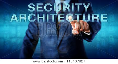 Consultant Pushing Security Architecture Onscreen