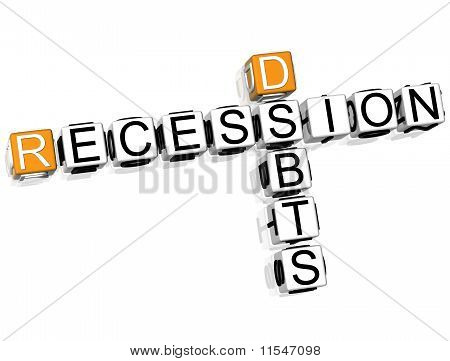 Recession Debts Crossword