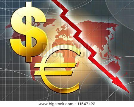 World Money Crisis Illustration