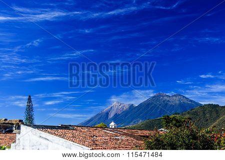 Double Volcano View, Antigua, Guatemala