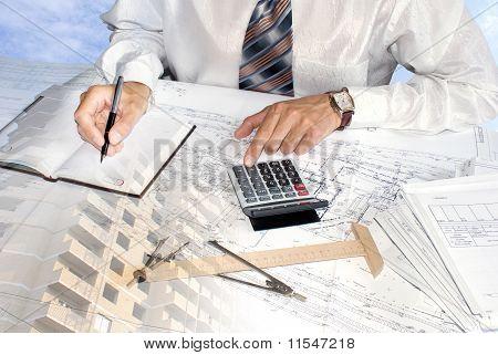 Seleção especialista do projeto de engenharia
