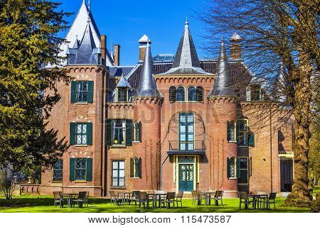 beautiful Keukenhof castle in Lisse, Holland