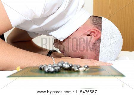 Young Muslim Man Is Praying