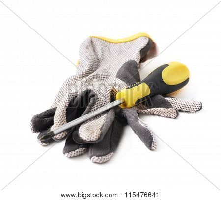 Working gloves isolated