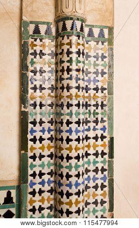 Alhambra Court Of The Mexuar Tiles