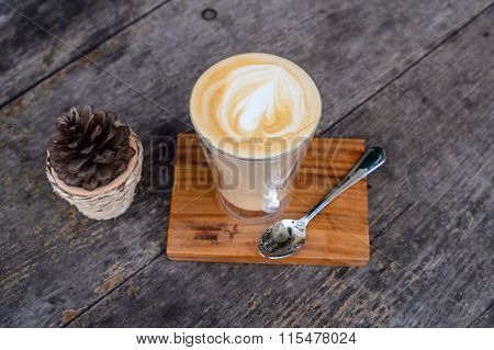 Cup of capuchino coffee