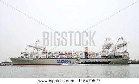 Cargo Ship loading at the Port of Oakland