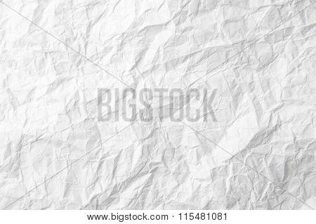 White paper texture paper sheet back wrinkled