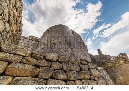Detailed Wide Angle View Of Machu Picchu Buildings, Peru