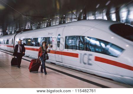 Frankfurt Airport Modern Film Effect