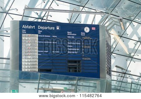 Vintage Train Information Boarding Board Germany
